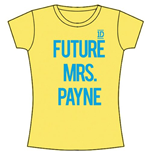 One Direction Women's Skinny Fit Tee: Future Mrs Payne