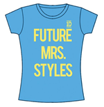 One Direction Women's Skinny Fit Tee: Future Mrs Styles
