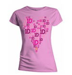 One Direction Women's Skinny Fit Tee: Heart Logo