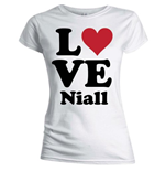 One Direction Women's Skinny Fit Tee: Love Niall