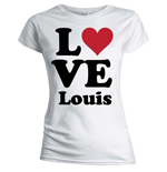 One Direction Women's Skinny Fit Tee: Love Louis
