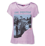 One Direction Women's Skinny Fit Tee: Take me Home- Ripped