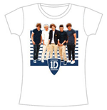 One Direction Women's Skinny Fit Tee: ONE Ivy League Stripes
