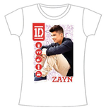 One Direction Women's Skinny Fit Tee: 1D Zayn Symbol Field