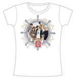 One Direction Women's Skinny Fit Tee: Nautical