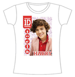 One Direction Women's Skinny Fit Tee: 1D Harry Symbol Field