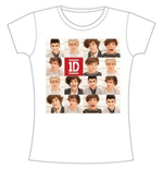 One Direction Women's Skinny Fit Tee: Polaroid Band