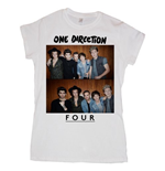 One Direction Women's Skinny Fit Tee: Four
