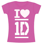 One Direction Women's Skinny Fit Tee: I Love