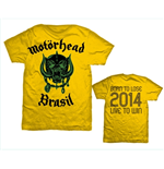 Motorhead Men's Back Print Tee: World Cup Brazil
