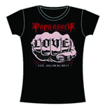 Papa Roach Women's Skinny Fit Tee: Love
