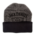 JACK DANIEL'S Unisex Old No.7 Brand Cuffed Beanie, One Size, Grey/Black