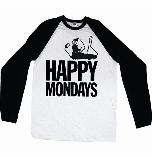 Happy Mondays Men's Raglan/Baseball Tee: Logo