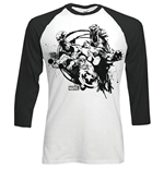 Marvel Comics Men's Raglan/Baseball Tee: Mono Chaos