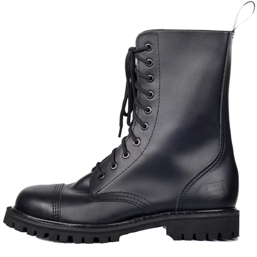 Mode Wichtig 10-Eye Steel Boots Leather