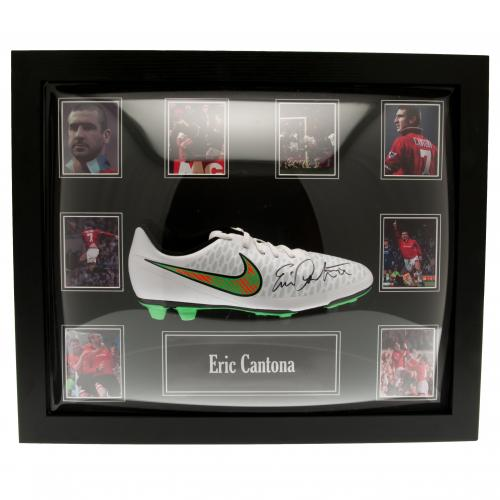 Manchester United F.C. Cantona Signed Boot (Framed)