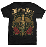Motley Crue Men's Tee: Exquisite Dagger