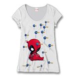 Deadpool Ladies T-Shirt Plunger