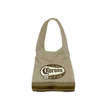 Corona Striped Khaki Women Purse