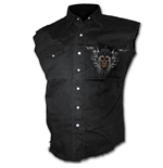 DEATH'S Army - Sleeveless Stone Washed Worker Black