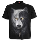 Wolf Chi - T-Shirt Black Plus Size