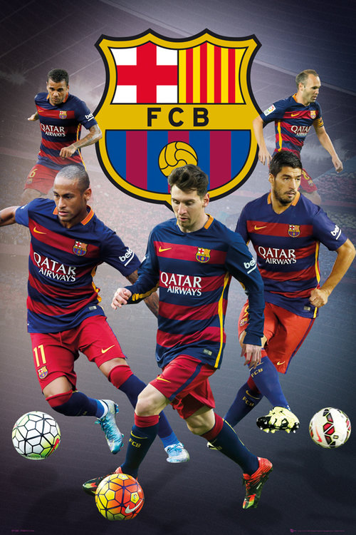 FC Barcelona Star Players Maxi Poster