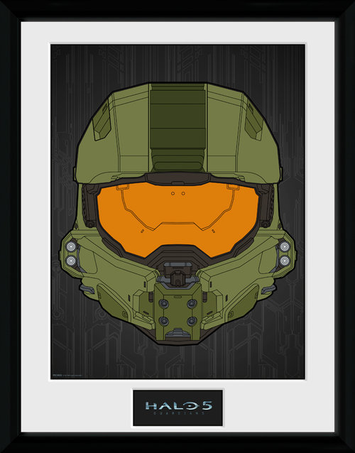 Halo 5 Mask Framed Collector Print