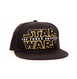 STAR WARS VII The Force Awakens Main Logo Snapback Baseball Cap, Black