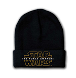 STAR WARS VII The Force Awakens Main Logo Beanie, One Size, Black