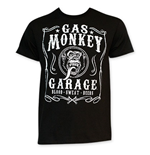 Gas Monkey Men's Black Jack Daniels Style Tee Shirt
