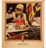 Lewis Hamilton Peoples Champion Print by Martin Bunnett