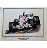 "Robert Kubica ""In the Groove"" Print by Martin Bunett"