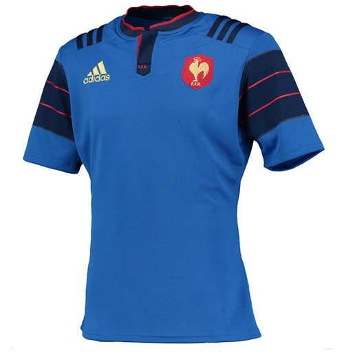 Adidas Rugby Home: Official 2015 France Adidas Home Rugby Shirt: Buy Online