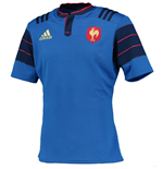 2015 France Adidas Home Rugby Shirt