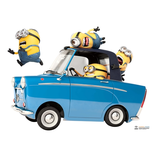 Minions Wall Sticker Car