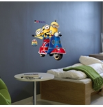 Minions Wall Sticker Scooter