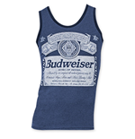 Budweiser Men's Navy Blue Tank Top