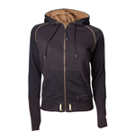 ASSASSIN'S CREED Syndicate Adult Female Bronze Brotherhood Crest Full Length Zipper Hoodie, Extra Extra Large, Black/Bronze