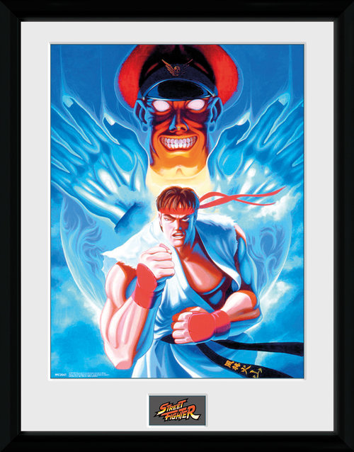 Street Fighter Ryu and Bison Framed Collector Print