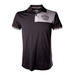 JACK DANIEL'S Adult Male Old No.7 Brand Polo Shirt, Extra Extra Large, Black/Grey
