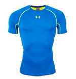 Under Armour Heatgear Armourvent Compression SS Tee (Blue)