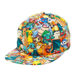 POKEMON Unisex Pikachu & Friend All-Over Pattern Snapback Baseball Cap, One Size, Multi-Colour
