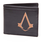 ASSASSIN'S CREED Syndicate Unisex Bronze Brotherhood Crest Logo Bi-Fold Wallet, One Size, Black