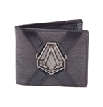 ASSASSIN'S CREED Syndicate Unisex Metal Brotherhood Crest Pendant Bi-Fold Wallet, One Size, Grey/Black