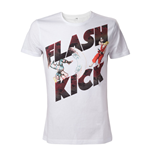 CAPCOM Street Fighter IV Adult Male Guile's Flash Kick T-Shirt, Medium, White