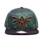 NINTENDO Legend of Zelda Unisex Embroidered Royal Crest Snapback Baseball Cap, One Size, Green/Black