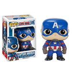 Captain America Civil War POP! Vinyl Bobble-Head Captain America 10 cm