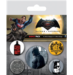 Batman v Superman Pin Badges 5-Pack Batman