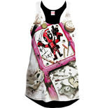 Deadpool Girlie Tank Top Number One Dad