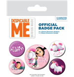 Despicable Me Pin Badges 5-Pack It's So Fluffy